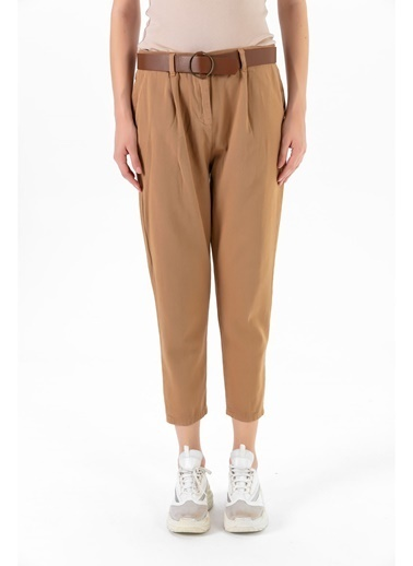 Tiffany&Tomato Kemerli Pantolon Camel